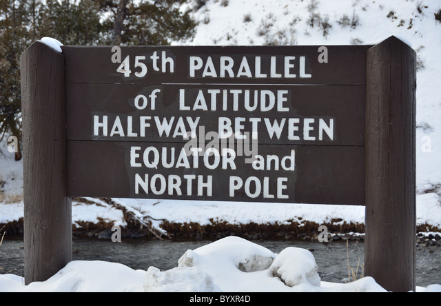 Latitude Marker Stock Photos Latitude Marker Stock Images Alamy - 45th parallel map us