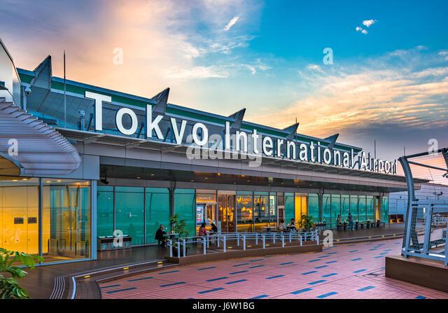 TOKYO, JAPAN - MAY 11, 2017: The exterior of Tokyo International Airport, better known as Haneda Airport. Haneda - Stock Image