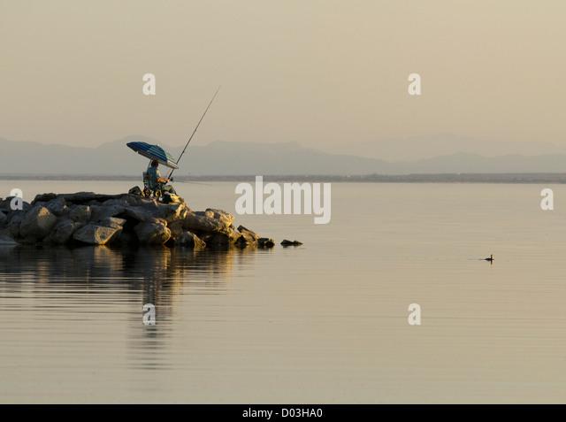 Sport fishing california stock photos sport fishing for Salton sea fishing