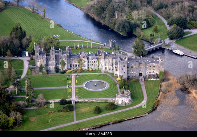 Ashford Castle Hotel Cong County Mayo Ireland Former Luxury Home Of  Guinness Family Aerial Photography