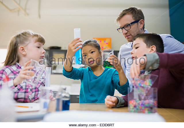 conducting of an experiment in biology class