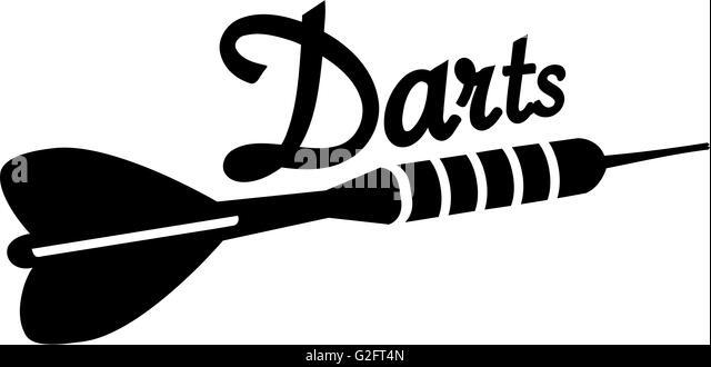 Darts clipart black and white