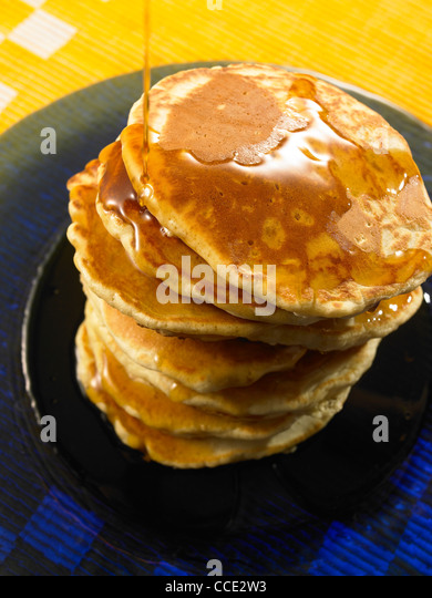 how to make maple syrup pancakes