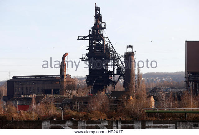 Blast Furnace Demolition : In seraing stock photos images alamy