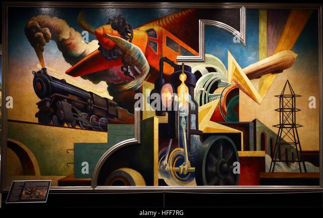 Thomas hart benton stock photos thomas hart benton stock for America today mural