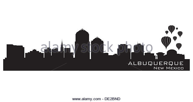 Skyline Of Downtown Albuquerque Stock Photos & Skyline Of