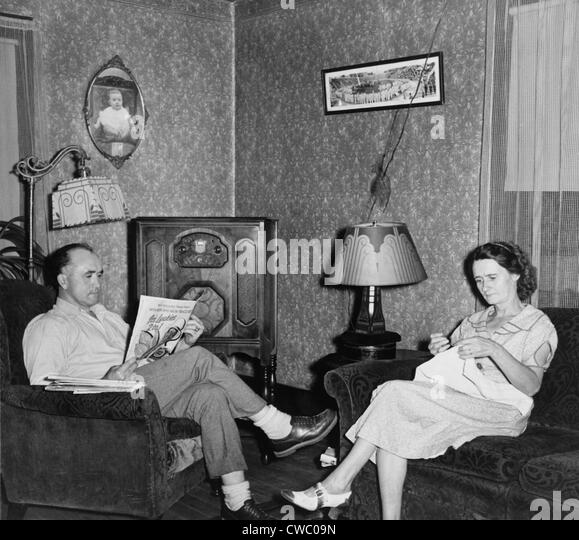 1930s middle class living room middle class family 1930s stock photos