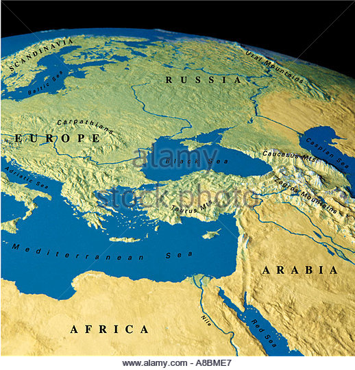 Map Maps Europe Middle East Stock Photos Map Maps Europe Middle - Map of europe russia middle east