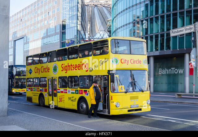 berlin germany sightseeing bus in stock photos berlin germany sightseeing bus in stock images. Black Bedroom Furniture Sets. Home Design Ideas