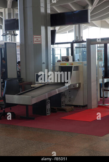 scanning machine at the airport