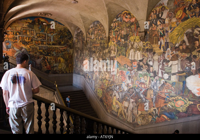 Diego rivera murals mexico city stock photos diego for Diego rivera mural new york