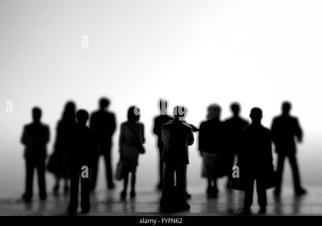 Standing crowd silhouette - photo#35
