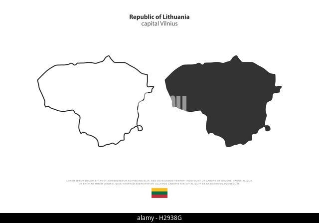 Lithuanian Vector Stock Photos Lithuanian Vector Stock Images - Lithuania map vector