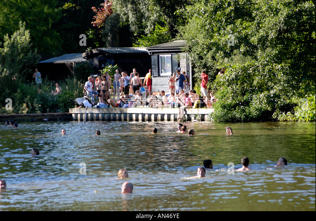 Hampstead heath london swim stock photos hampstead heath london swim stock images alamy for Hampstead heath park swimming pool