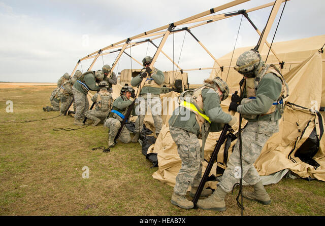 U.S. Air Force Airmen construct an Utilis TM60 Tall tent during a field exercise at the : utilis tents - memphite.com