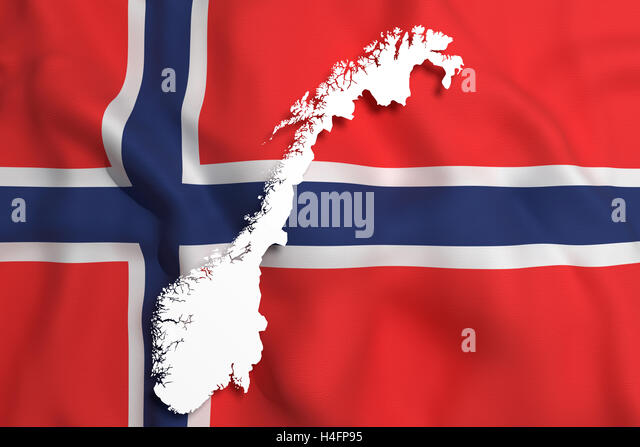 D Map Illustration Norway Flag Stock Photos D Map Illustration - Norway map and flag