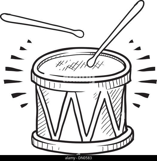 Snare Drum Vector Sketch