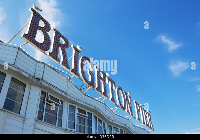brighton sign stock photos brighton sign stock images alamy. Black Bedroom Furniture Sets. Home Design Ideas