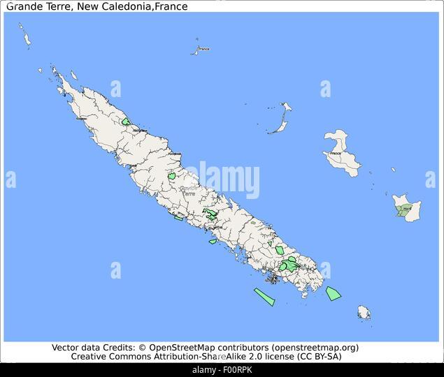 Map New Caledonia Stock Photos Map New Caledonia Stock Images - New caledonia map