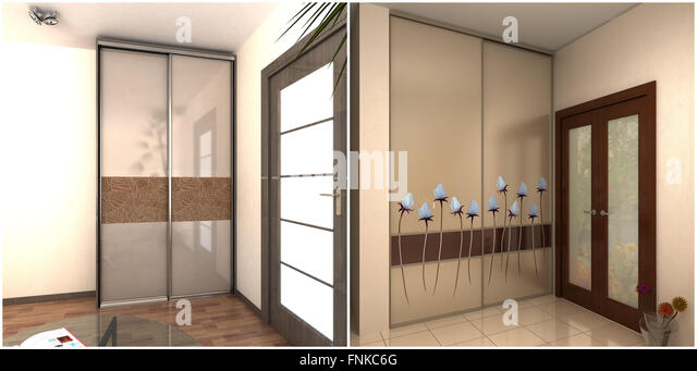 Built in wall unit stock photos built in wall unit stock for Garderobe 3d dwg