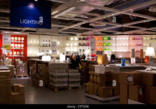 lighting department ikea store wembley stock photos. Black Bedroom Furniture Sets. Home Design Ideas