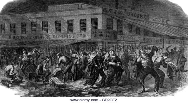 the cause of the new york city draft riots of 1863 Passed in march 1863, the usa's first draft law was in response to the union's forces becoming perilously depleted as a result of desertion,.
