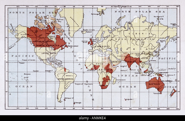 British empire map stock photos british empire map stock images british empire map 1880 stock image gumiabroncs Gallery