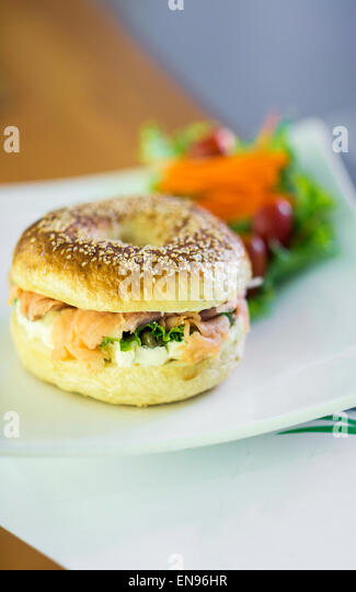 Cheese Bagel Stock Photos & Cheese Bagel Stock Images - Alamy