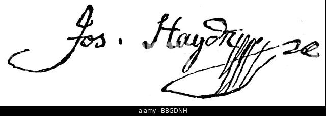 Signature From Joseph Haydn