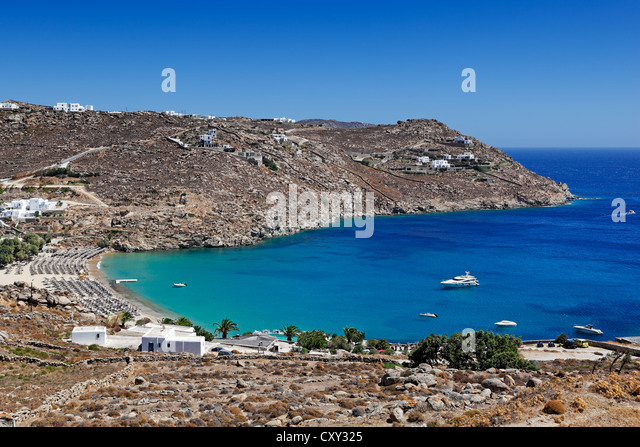 Best Island Beaches For Partying Mykonos St Barts: Paradise Beach Mykonos Stock Photos & Paradise Beach