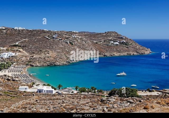 Best Island Beaches For Partying Mykonos St Barts: Paradise Beach Mykonos Stock Photos & Paradise Beach