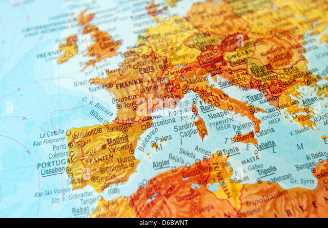 Part Of Globe With Map Of Europe Photos Part Of Globe With – Globe Map of Europe
