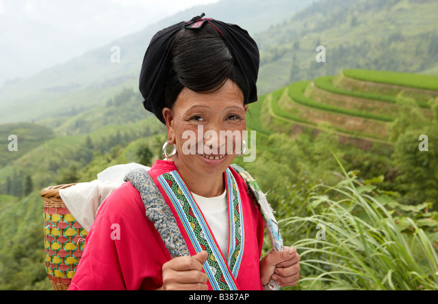 rice village haircut haircut stock photos amp haircut stock 4692 | long haired women from huangluo yao village these women only have b387ap