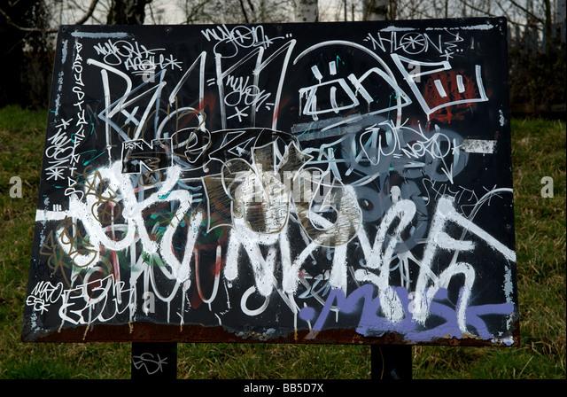 Vietnam Memorial Spray Painted