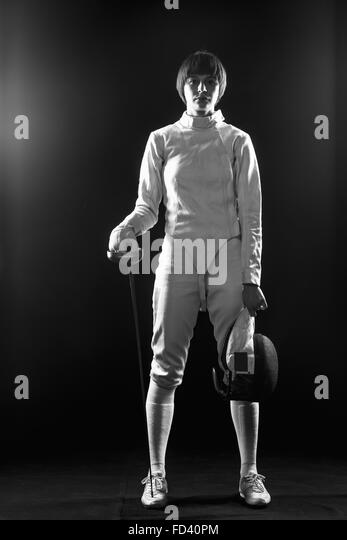Fencing Black and White Stock Photos & Images - Alamy