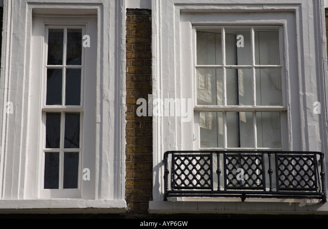 Sash windows house stock photos sash windows house stock for Queen anne windows