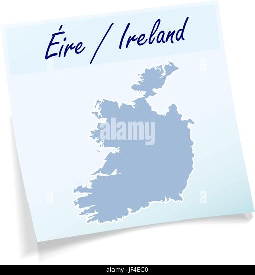 An post dublin cut out stock images pictures alamy ireland as notepad stock image m4hsunfo