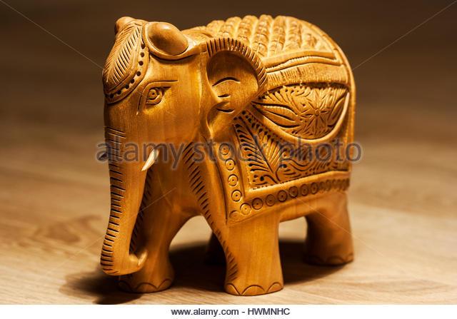 Golden elephant sculpture stock photos