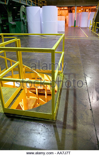Spiral Staircase In Factory   Stock Image