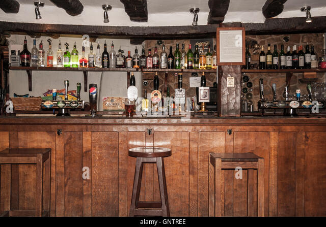 Interior Of A Public House Bar In The Market Town Of Helmsley,North  Yorkshire,