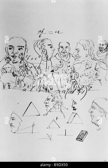 drawings by leo tolstoy in a manuscript of anna karenina the tolstoy literature museum in moscow