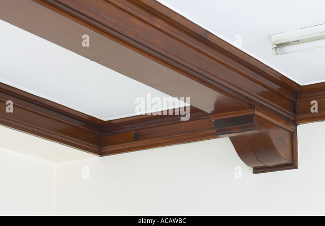 Roof Beams In Old Hall Lancashire   Stock Image