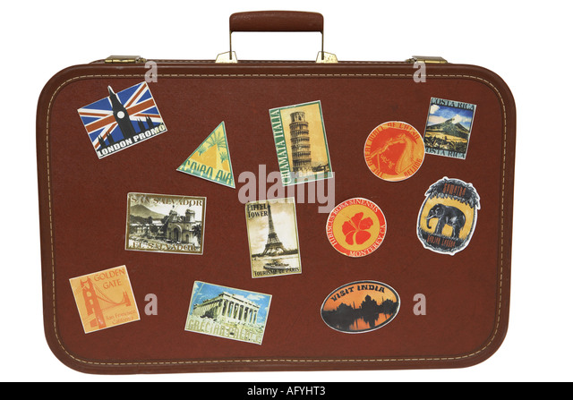 Suitcase Stickers Stock Photos & Suitcase Stickers Stock ...