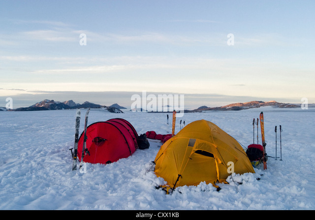 Expeditions tents on a polar journey west of Kulusuk Greenland - Stock Image & Polar Expedition Tents Tent Stock Photos u0026 Polar Expedition Tents ...