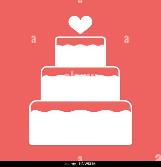 Wedding Cake Isolated Icon Vector Stock Photos Wedding Cake