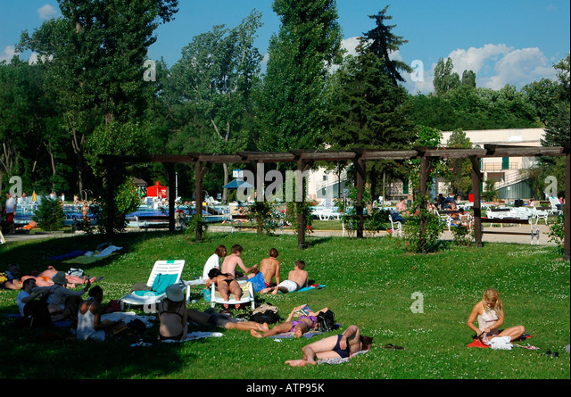 Sziget stock photos sziget stock images alamy for Margaret island budapest swimming pool
