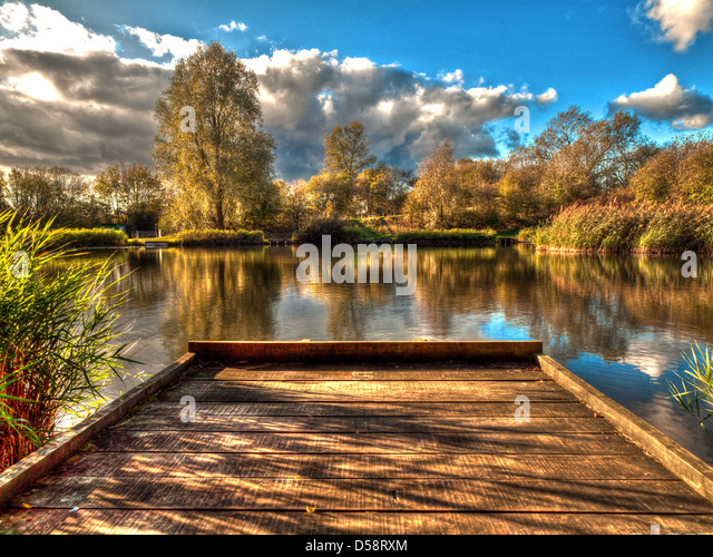 Fishing pond stock photos fishing pond stock images alamy for Stocked fishing ponds near me