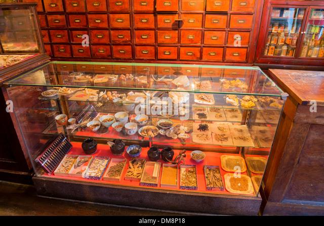 Heritage Chinese Herbalist Store, Burnaby Village Museum, Burnaby, British  Columbia, Canada