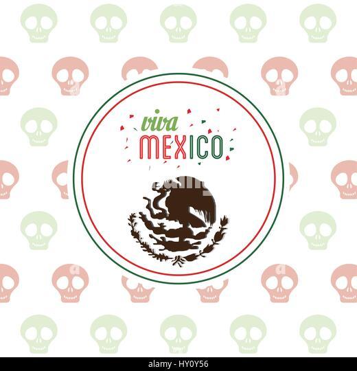 Mexico city stock vector images alamy viva mexico invitation party emblem stock vector stopboris Images