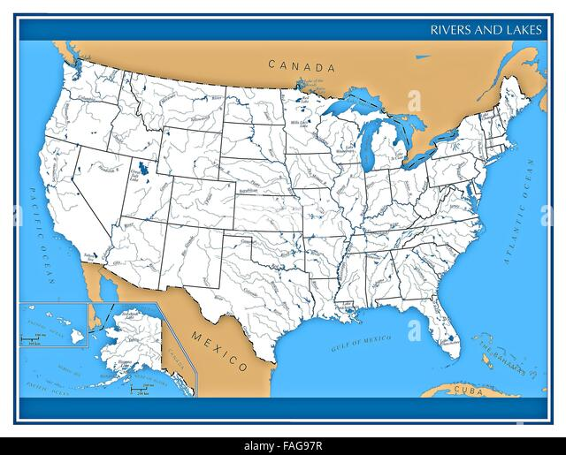 Photo Collection United States Mountains - Us map mountain ranges and rivers
